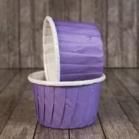 Капсула для маффинов фиолетовая с ламинацией 50/40мм (1 шт)
