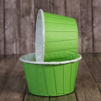Капсула для маффинов зеленая с ламинацией 50/40мм (1 шт)