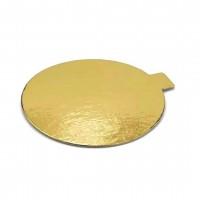 Подложка с держателем круглая (золото) 90/0,8 мм