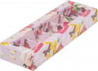 Коробка для конфет на 5шт с пластиковой крышкой (с прадником) 235/70/30мм