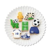 """Формы для печенья пластик """"Футбол"""" 4/6 см (набор 8шт)"""