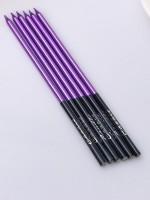 """Свечи в торт """"С Днем Рождения"""" фиолетовый с черным 16 см (6 шт)"""