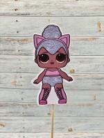 "Топпер пластик ""Кукла LOL № 3"" 31 см"