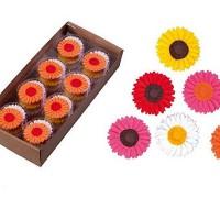 Сахарные цветы Герберы/Ромашки (красные) 1шт