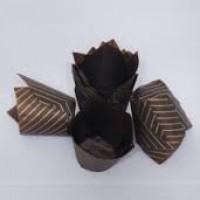 Капсулы тюльпан (коричневая с золотыми полосками) 10шт