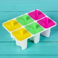 """Форма для мороженого пластик """"Лолли"""" 6 ячеек 13х10х6 см"""