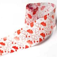 Бордюрная лента (сердечки)  h=45мм  w=40мкм (10м)