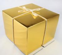 Коробка 170х170х100 мм (золото)