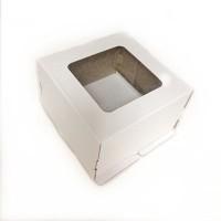 Коробка 220/220/130 мм с окном (гофрокартон)