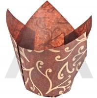 Капсулы тюльпаны коричневые с узором (10шт)