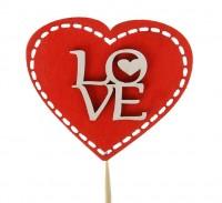 "Топпер ""LOVE"" (красный) 75мм"