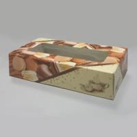 Коробка с окном (бежевая) 210х100х50 мм