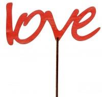 """Топпер """"Love"""" красный с держателем"""
