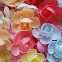 Вафельные цветы пионы сложные 3,5 см 5 шт