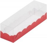 Коробка для макарон с крышкой (красная) 190/55/55мм