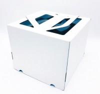 Коробка 240/240/200 мм ручка/белая
