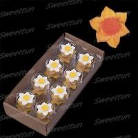 Сахарные цветы Нарциссы (оранжевые) 8шт