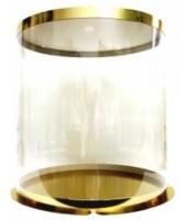 Коробка-тубус 250/284мм (золото/прозрачная)