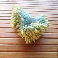 Тычинки для цветов крупные (желтые) 25шт