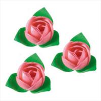 Вафельные цветы (розы розовые) 10шт