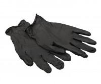 Перчатки виниловые неопудренные Черные М (2шт)