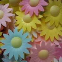Вафельные цветы (маргаритки микс) 10 шт