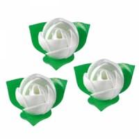 Вафельные цветы (розы белые) 10шт