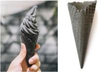 Вафельный рожок 185мм естественный край (черный) 4шт