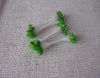 Тычинки для цветов (зеленые) 25шт