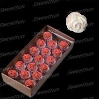 """Сахарные цветы """"Розы 35 мм"""" (кремовые) 17 шт"""