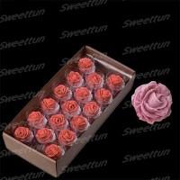 """Сахарные цветы """"Розы 35 мм"""" (сиреневые) 17 шт"""