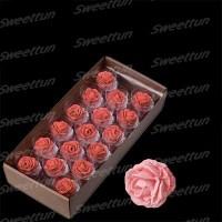 """Сахарные цветы """"Розы 35 мм"""" (нежно-розовые) 17 шт"""
