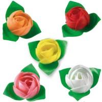 Вафельные цветы (розы ассорти) 10шт