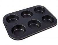 Форма для выпечки металл (противень) для 6 кексов 5,5х3 см