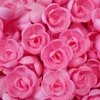 Вафельные розы малые сложные розовые 5шт