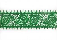 Готовое кружево 8*4см зеленое (1шт)