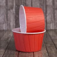 Капсула для маффинов красная с ламинацией 50/40мм (1 шт)