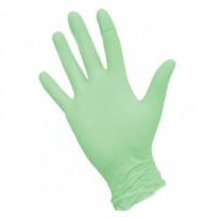 Перчатки нитриловые зеленые М (100шт)