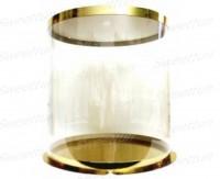 Коробка-тубус (золото/прозрачная) 400/497мм