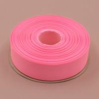 Репсовая лента 25мм (неоново-розовая)32м