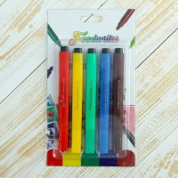 Фломастеры для рисования цветные 21х12х1,5 см (набор 5 шт)