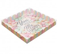 "Коробка для печенья ""You make me happy"" 210*210* 30мм"