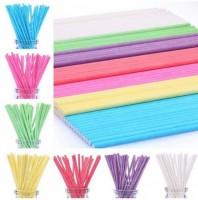 Палочки для кейк-попсов бумажные 15см фиолетовые (50шт)