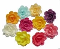 Вафельные цветы малые розы сложные (5шт)