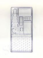 "Форма для шоколада поликарбонат ""Новогодний домик"" 13,5х27,5 см"